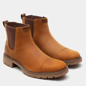 Timberland Elmhurst Chelsea Slip-on Leather Mens Boots Shoes UK 11.5 EUR 46