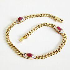 Armband Gold 333er Rubin Diamant Goldschmuck Armkette Damen 8 kt. Armreif