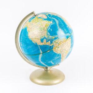 "Vintage 1978 Rand McNally 12"" Topographic Raised Relief Globe"