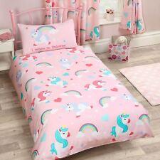 I Believe in Unicorns Junior bébé DUVET COUVERTURE Ensemble RAINBOW Filles