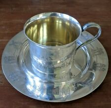 Gorham Sterling Baby Child's Cup & Plate Set Dutch Theme