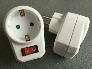 Steckdosenschalter ... schaltbare Steckdosen Steckerschalter Schaltersteckdosen