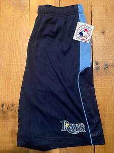 Men's Majestic Cool Base Tampa Bay Rays Batters Choice Baseball Shorts NWT XL