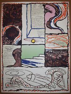 Listed Belgian Artist Pierre Alechinsky Signed Original Color Serigraph Rare