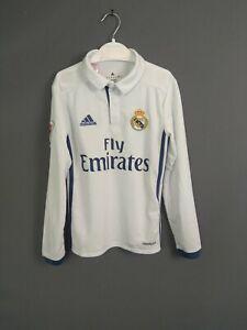 Real Madrid Jersey 2016 2017 Long Sleeve Kids 7-8 y Shirt Adidas AI5190 ig93