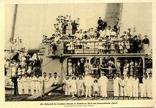 """Das Kinderfest der deutschen Kolonie in Tientsin an Bord der """"Iltis"""" von 1914"""