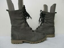 BOUTIQUE 9 Taupe Leather Lace Up Combat Boots Womens Size 6 M