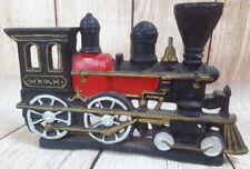 Old Cast Iron Black Locomotive Train Heavy Door Stopper Steam Engine Decoration