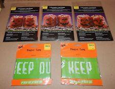 "Halloween Fright Tape 2ea & Orange Pumpkin Leaf Bags 6ea 24"" x 30"" 133U"