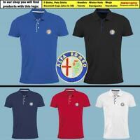 Alfa Romeo Polo T Shirt EMBROIDERED Auto Car Logo Slim Fit Tee Mens Clothing