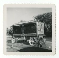 Circus Photography - Zoo Truck - Vintage Glossy Snapshot Photograph
