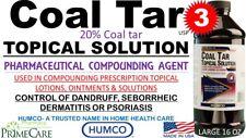 3 Humco 20% Coal Tar Topical Solution Compounding 16 oz Pharma Grade Exp 10/2021