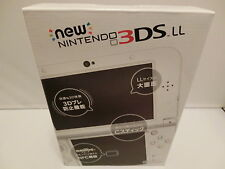 NEW Nintendo 3DS LL Pearl white Game Consoles  -0nly plays Japanese games-