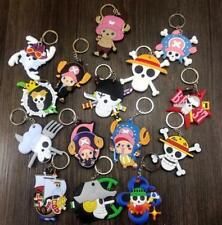 15pcs anime chopper skull silica gel key chain key chains ornament pendant