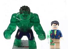 Clear Hulk & Bruce Banner minifigure  Avengers Ultron Civil War Ice Crystal