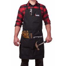 Black Canvas Apron Work Shop Workshop Hobby Kitchen Tool LG