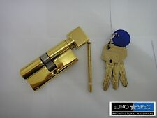 EUROSPEC MP10 EURO THUMBTURN CYLINDER 35/35mm (70mm) WITH MASTERKEY 6PIN BRASS