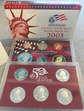 **BEST PRICE** 2005 US MINT SILVER PROOF SET OF 11 COINS