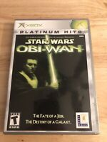 Star Wars Obi-Wan (Microsoft Xbox 2001) MINT COMPLETE! PLATINUM HITS! MAIL TOMOR
