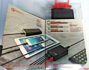 Tzumi Hyper Charge Desktop 5 Ports Smart Charger Qualcomm 3.0