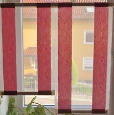 Scheibengardinen 2 x Breite 40  cm x Höhe 67/81 cm- neu - modern Gardine Paneel