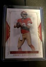 JIMMY GAROPPOLO 2017 National Treasures Red Parallel Base Card # 05/10 49ers SSP