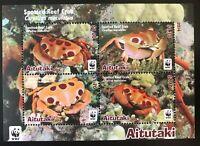 WWF - AITUTAKI- Riff-Krabbe 2014 - Block mit kpl. Satz -perfekt erhalten- **/MNH
