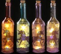 Mystical Unicorn Decorative Bottle & LED Lights Christmas Pink/Blue/Purple/White