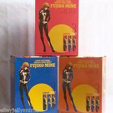 Lupin the Third Mine Fujiko Figure Complete Set Blk Blue Purple GROOVY BABY SHOT
