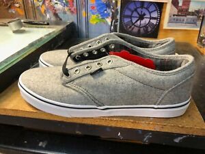 Vans Atwood Plaid Gray Red  Size US 12 Men's New Grey Wool Skateboard Sneakers