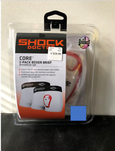 Shock Doctor Core YOUTH Bioflex Cup Brief 2pk Sizes Youth S M L XL