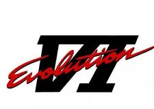 Mitsubishi evolution 6 VI Rear Decal sticker, lancer, evo various colours