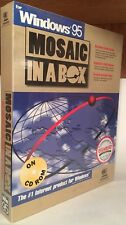 RARE Vintage Software Mosaic In A Box for Windows 95 Sealed 1995