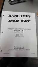 NEW RANSOMES BOB-CAT COMMERCIAL MOWER PARTS LIST T16K, R-48K, R-54K ROTARY