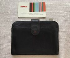 Hobo International Wallet Classic Black Leather ID and Key Holder - Retired