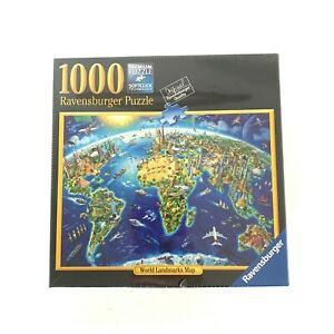 1000 Pieces Ravensburger Puzzle 2017 World Landmarks Map