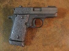 Black Textured Rubber Grip Enhancements for the Sig Sauer P238 380 ACP