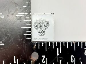 Stampin up Foam Mounted Rubber Stamp Basket of flowers