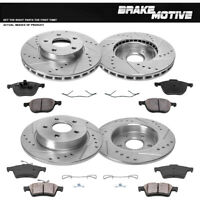 Front+Rear Drill Slot Brake Rotors & Ceramic Pads For 2012 2013- 2017 Ford Focus