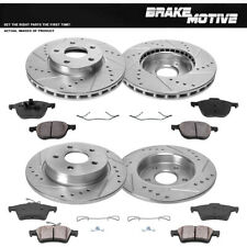 Front+Rear Drill Slot Brake Rotors & Ceramic Pads For 2012 2013- 2018 Ford Focus