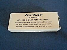 VINTAGE KA-BAR  SHARPENING STONE No.1000  NEVER USE--ORIGINAL BOX