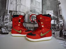 NIKE Red Tiger Rabbit Zoom Force 1 Snowboarding Boots US MEN'S 7 / WOMEN'S 9.5