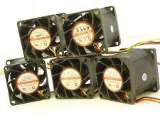 Lot of 5x Evercool 38mm x 38mm 1U Server Cooling Fan 12V 1.92W 0.16A EC3838M12BA