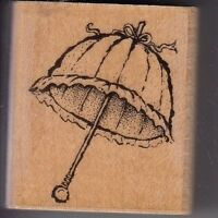 "umbrella imp obs Wood Mounted Rubber Stamp  1 1/2 x 1 1/2""  Free Shipping"