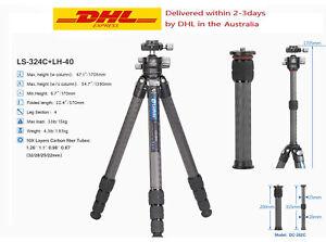 Leofoto LS-324C+LH-40 Professional Camera Tripod Ball Head with Central Column