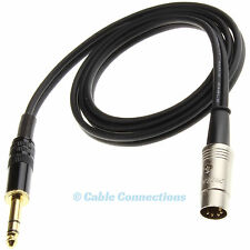 1M 6,35 mm Jack A 5 PIN DIN Spina B&O NAIM Audio Cavo Lead Stereo DJ AMPLIFICATORE