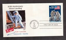 USA 1989 FIRST DAY COVER, 20th ANNIVERSARY OF MOON LANDING !!R