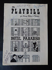 April 1957 - Henry Miller's Playbill - 4 Autos - Hotel Paradiso Lahr Lansbury