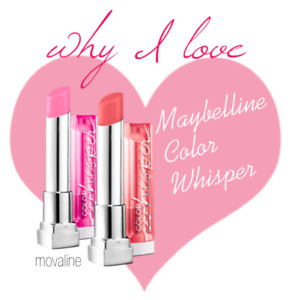 MAYBELLINE COLOR WHISPER LIPCOLOR LIPSTICK, 19 Shade's *You Choose*