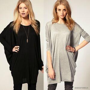Fashion Casual T-Shirt Batwing Sleeve Long T-Shirt Loose Blouse